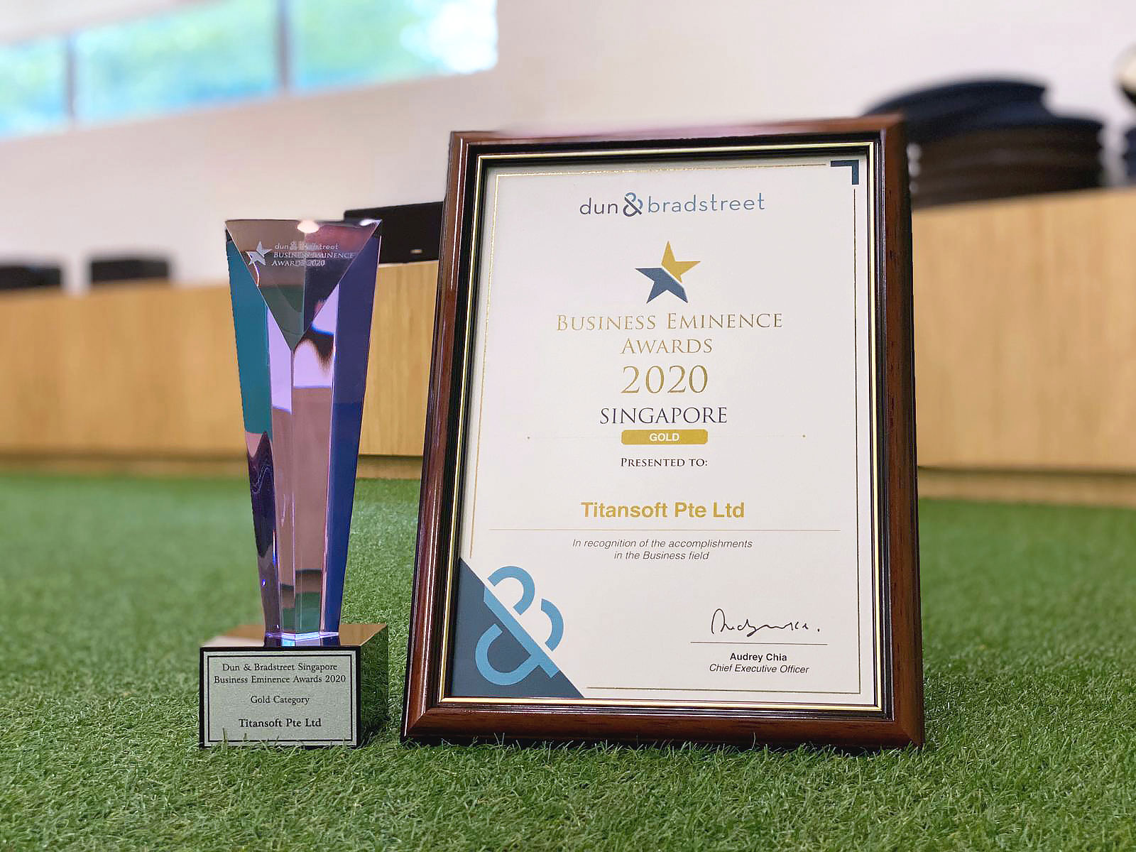 Titansoft Clinched the Business Eminence Award 2020 - Gold Category, Third Year in a Row!