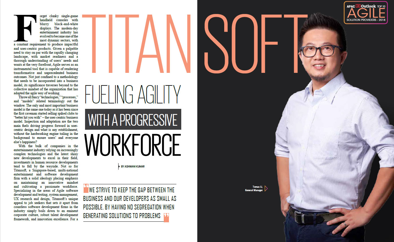 Our Work Practices Are so Agile, We Were Featured on APAC CIO Outlook's Agile Special!